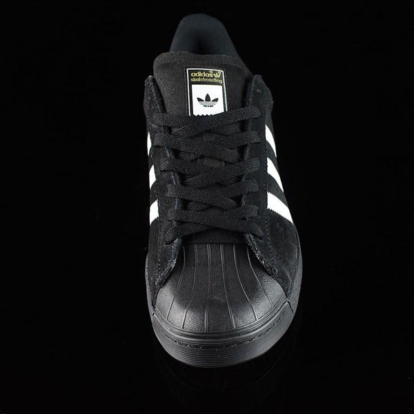 adidas Superstar Vulc ADV Shoes Black Suede, Black, White Rotate 6 O'Clock