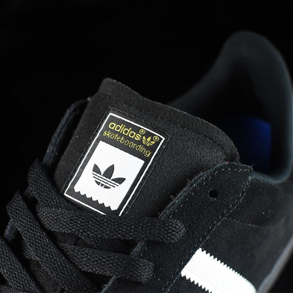 adidas Superstar Vulc ADV Shoes Black Suede, Black, White Tongue