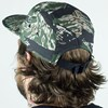 Magenta Subdivision 5 Panel Hat Camo From the back.