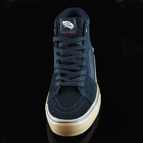 Vans Sk8-Hi Pro Shoes Black, Gum Rotate 6 O'Clock