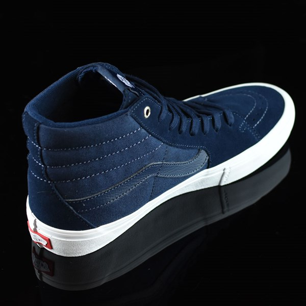 Vans Sk8-Hi Pro Shoes Navy, Navy, White Rotate 1:30