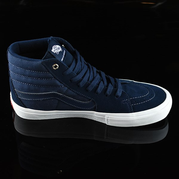 Vans Sk8-Hi Pro Shoes Navy, Navy, White Rotate 3 O'Clock