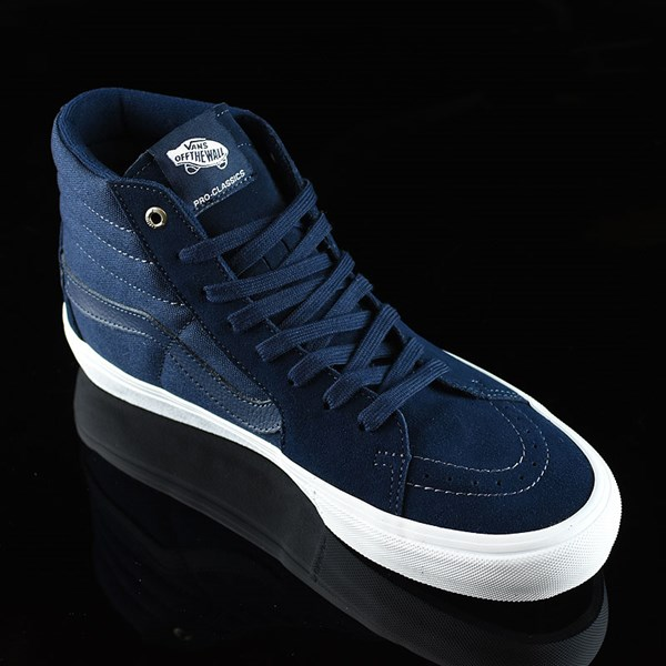 Vans Sk8-Hi Pro Shoes Navy, Navy, White Rotate 4:30
