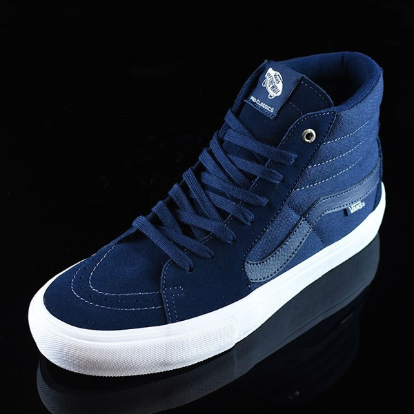 Vans Sk8-Hi Pro Shoes Navy, Navy, White Rotate 7:30