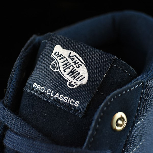 Vans Sk8-Hi Pro Shoes Navy, Navy, White Tongue