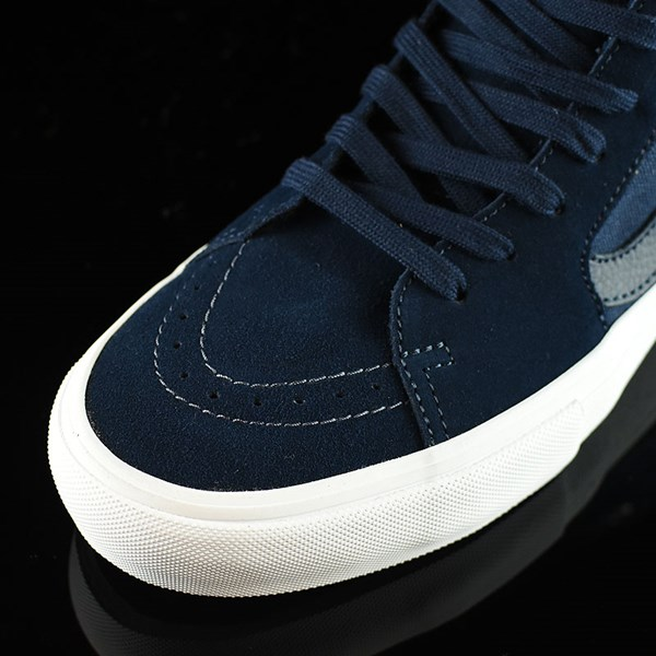 Vans Sk8-Hi Pro Shoes Navy, Navy, White Closeup