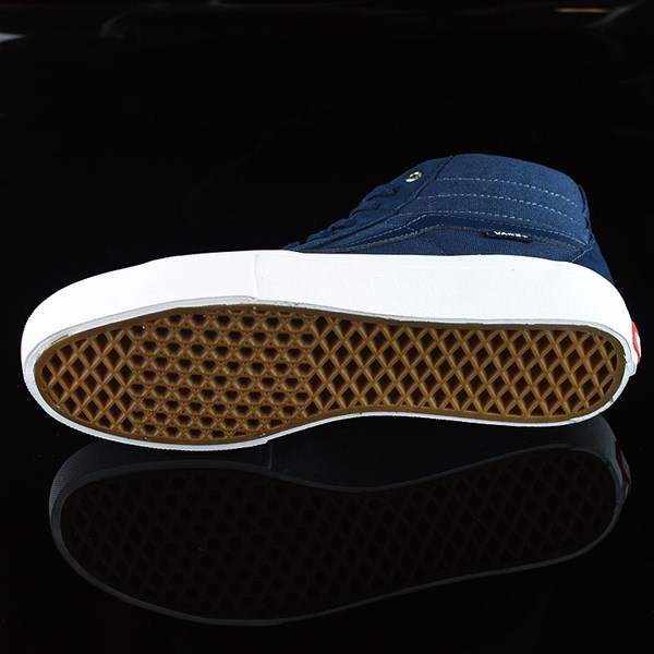 Vans Sk8-Hi Pro Shoes Navy, Navy, White Sole