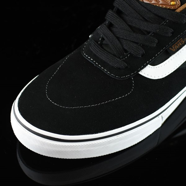 Vans Kyle Walker Pro Shoes Black, White, Gum Closeup
