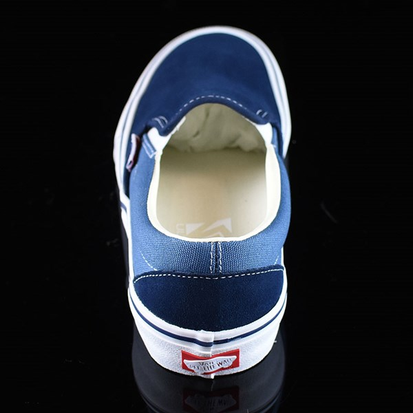 Vans Slip On Pro Shoes Navy Two Tone Rotate 12 O'Clock