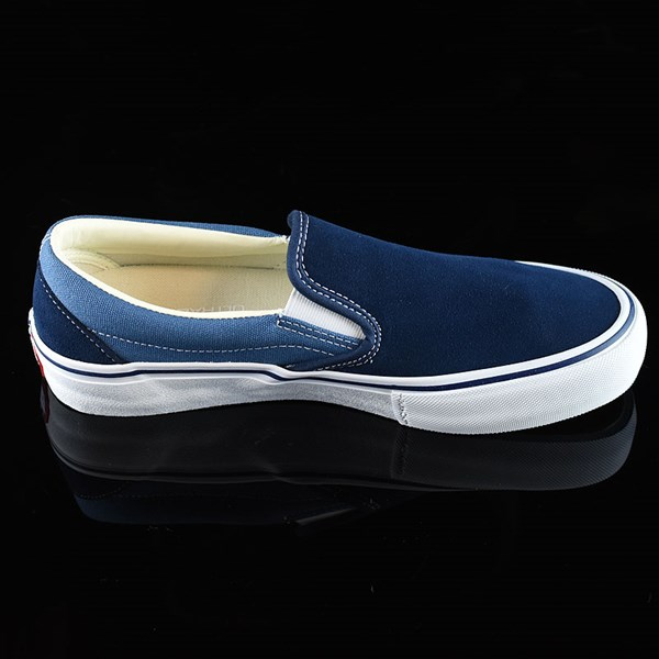 Vans Slip On Pro Shoes Navy Two Tone Rotate 3 O'Clock