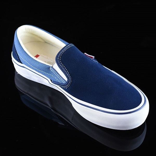 Vans Slip On Pro Shoes Navy Two Tone Rotate 4:30