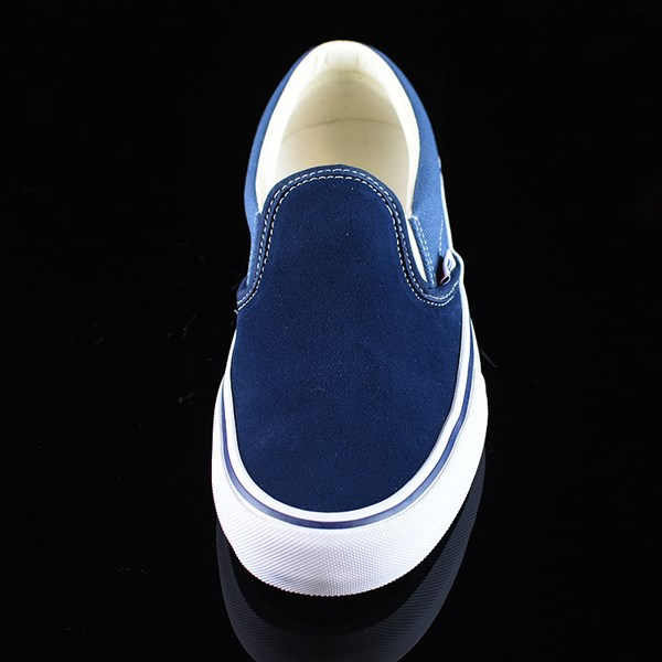 Vans Slip On Pro Shoes Navy Two Tone Rotate 6 O'Clock