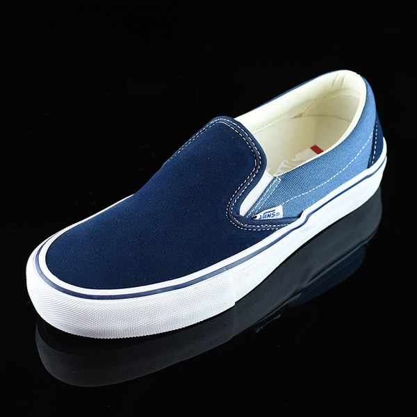 Vans Slip On Pro Shoes Navy Two Tone Rotate 7:30