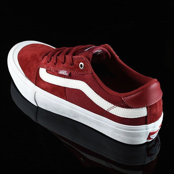 Vans Style 112 Pro Shoes Red Dahlia Rotate 7:30