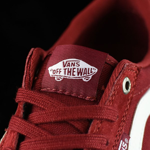 Vans Style 112 Pro Shoes Red Dahlia Tongue