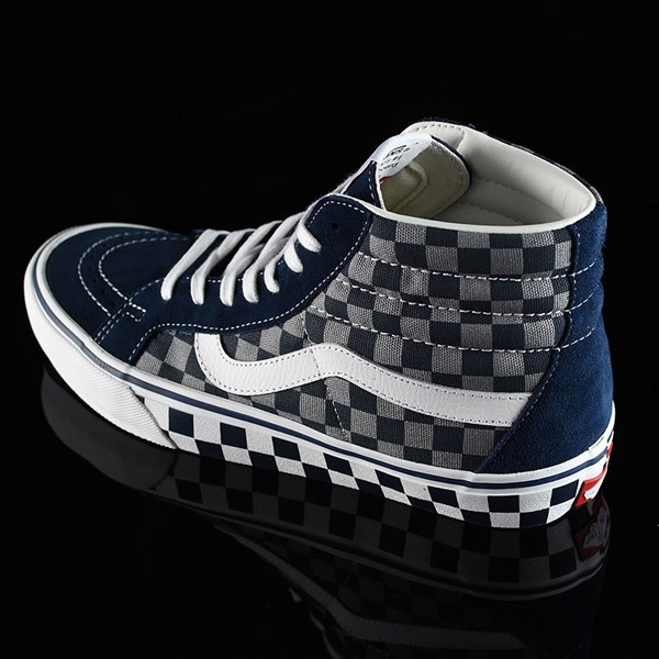 Vans Sk8-Hi Pro Shoes '83 Navy Checkered Rotate 7:30