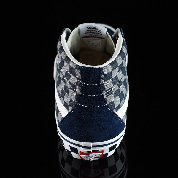 Vans Sk8-Hi Pro Shoes '83 Navy Checkered Rotate 12 O'Clock
