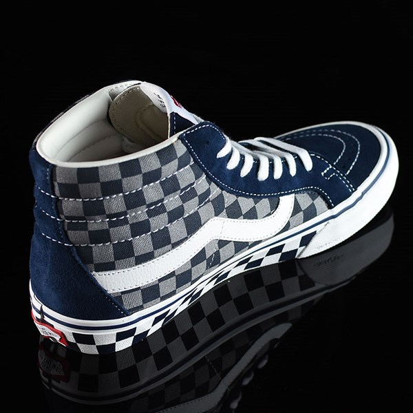 Vans Sk8-Hi Pro Shoes '83 Navy Checkered Rotate 1:30
