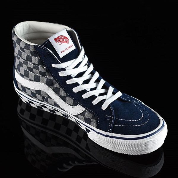 Vans Sk8-Hi Pro Shoes '83 Navy Checkered Rotate 4:30