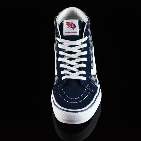 Vans Sk8-Hi Pro Shoes '83 Navy Checkered Rotate 6 O'Clock