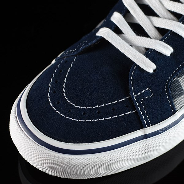 Vans Sk8-Hi Pro Shoes '83 Navy Checkered Closeup