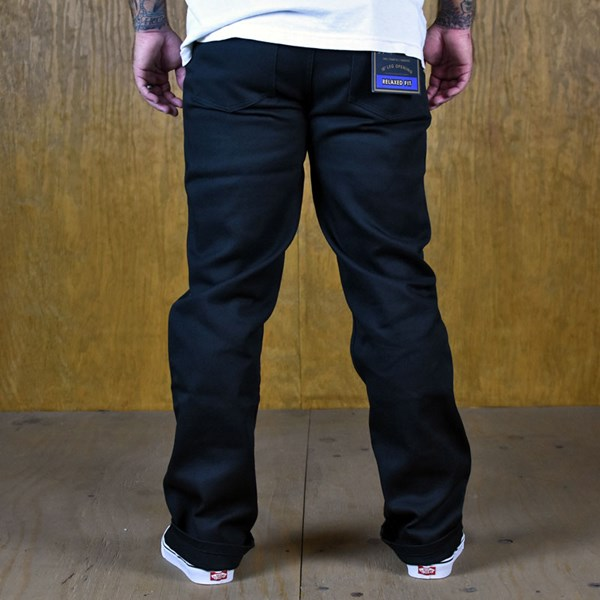Brixton Fleet Chino Pants Black Back