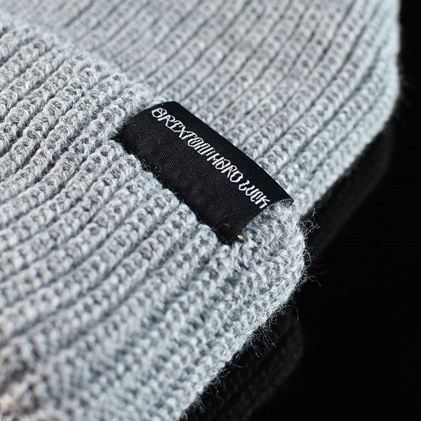 Brixton Hard Luck FU Prayer Beanie Heather Grey Detail