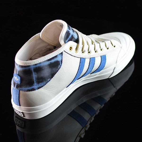adidas Snoop X Gonz Matchcourt Mid Shoes White,  Light Blue, Gold Rotate 1:30