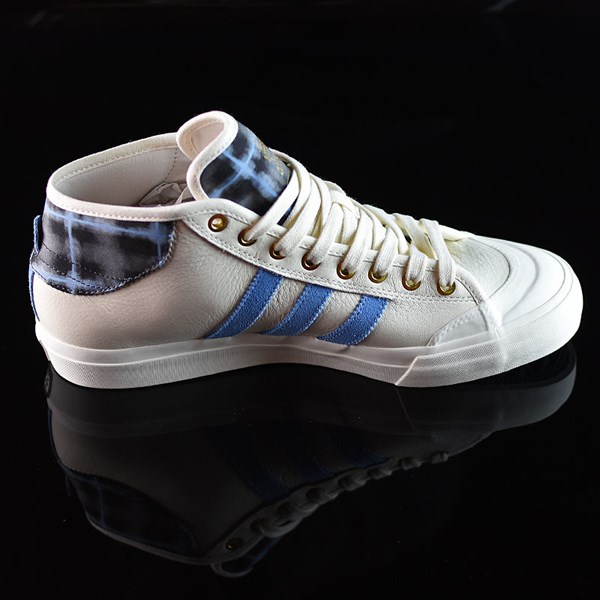 adidas Snoop X Gonz Matchcourt Mid Shoes White,  Light Blue, Gold Rotate 3 O'Clock