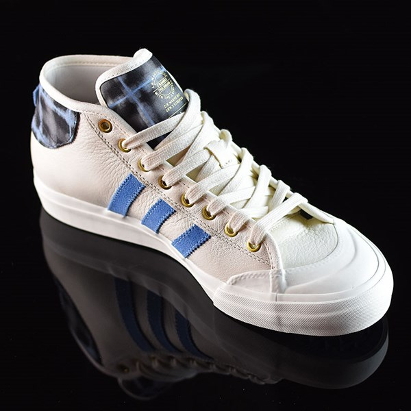adidas Snoop X Gonz Matchcourt Mid Shoes White,  Light Blue, Gold Rotate 4:30