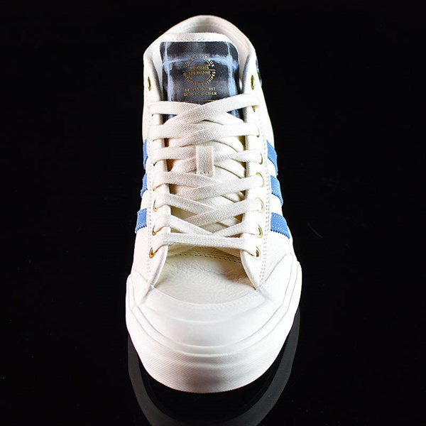 adidas Snoop X Gonz Matchcourt Mid Shoes White,  Light Blue, Gold Rotate 6 O'Clock