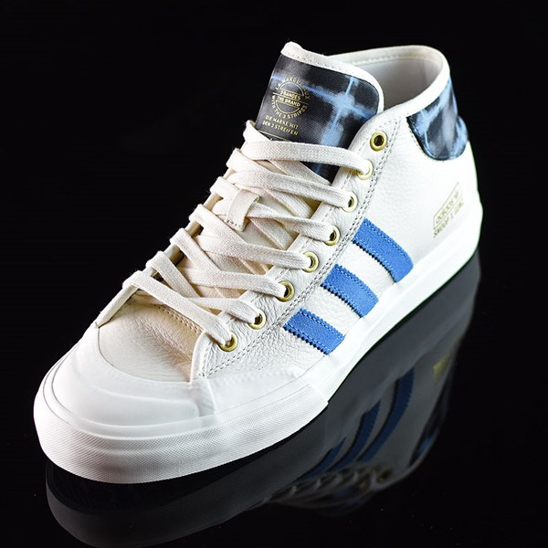 adidas Snoop X Gonz Matchcourt Mid Shoes White,  Light Blue, Gold Rotate 7:30