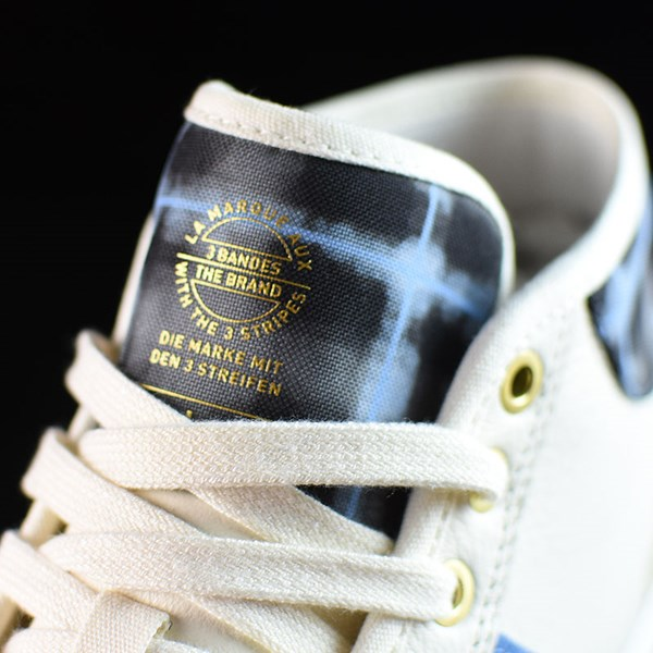 adidas Snoop X Gonz Matchcourt Mid Shoes White,  Light Blue, Gold Tongue