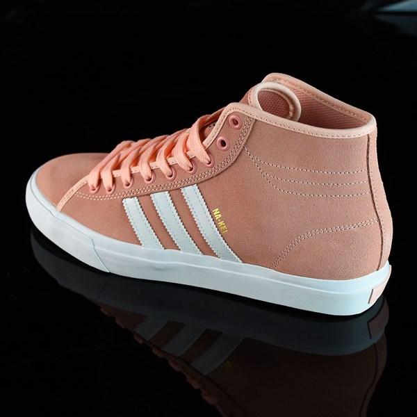 adidas Matchcourt RX Na-Kel Shoes Haze Coral, White, Haze Coral Rotate 7:30