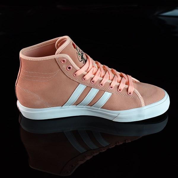 adidas Matchcourt RX Na-Kel Shoes Haze Coral, White, Haze Coral Rotate 3 O'Clock