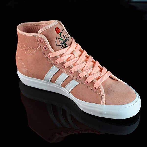 adidas Matchcourt RX Na-Kel Shoes Haze Coral, White, Haze Coral Rotate 4:30