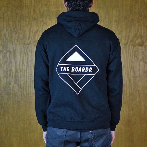 The Boardr The Boardr Logo Hooded Sweatshirt Black back