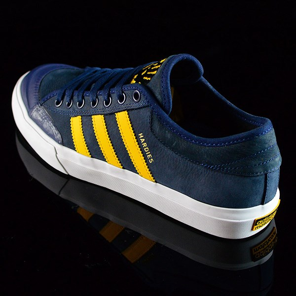 adidas adidas X Hardies Matchcourt Shoes Navy, Yellow, White Rotate 7:30