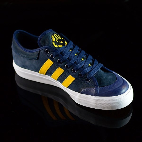 adidas adidas X Hardies Matchcourt Shoes Navy, Yellow, White Rotate 4:30