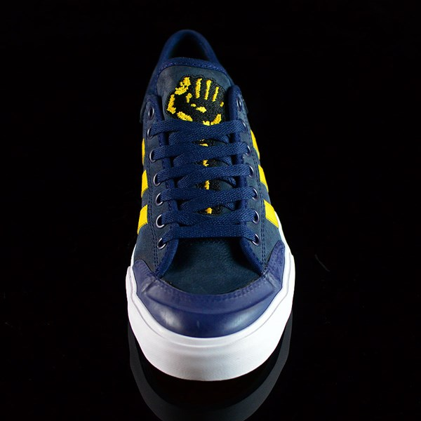 adidas adidas X Hardies Matchcourt Shoes Navy, Yellow, White Rotate 6 O'Clock