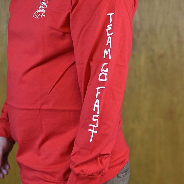 Hard Luck Mfg OG Logo Long Sleeve T Shirt Red Side