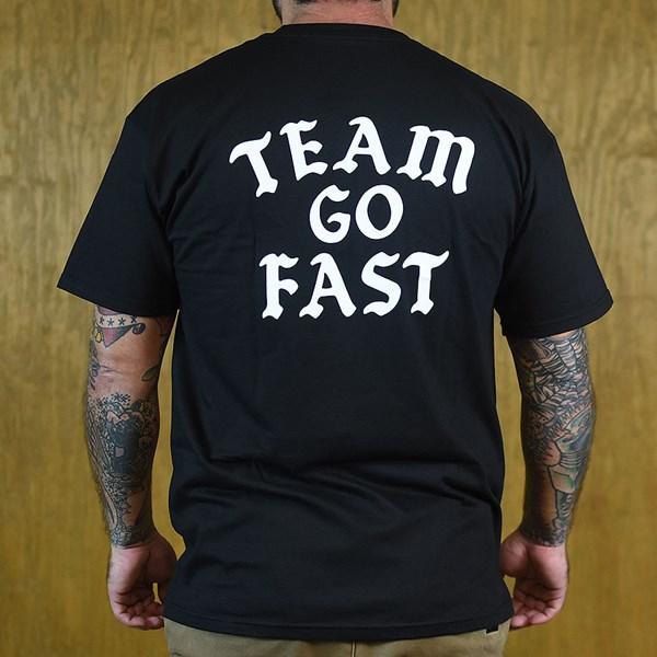 Hard Luck Mfg Team Go Fast T Shirt Black Back
