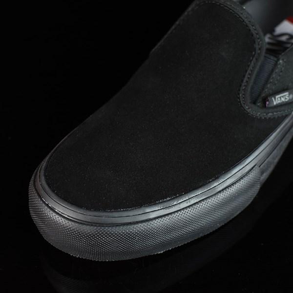 Vans Slip On Pro Shoes Blackout Closeup