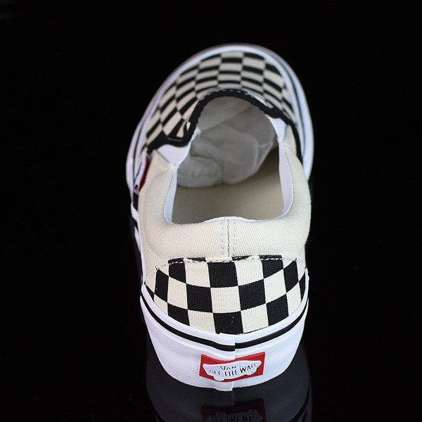 Vans Slip On Pro Shoes Black, White, Checkerboard Rotate 12 O'Clock