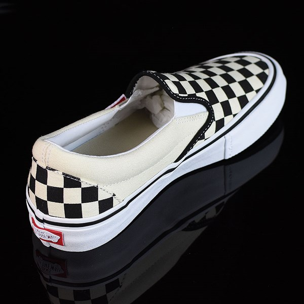 Vans Slip On Pro Shoes Black, White, Checkerboard Rotate 1:30