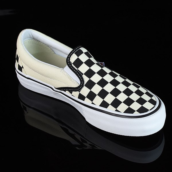 Vans Slip On Pro Shoes Black, White, Checkerboard Rotate 4:30