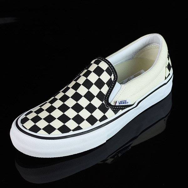 Vans Slip On Pro Shoes Black, White, Checkerboard Rotate 7:30