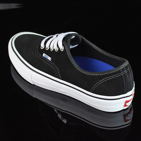 Vans Authentic Pro Shoes Black Suede, White Rotate 7:30