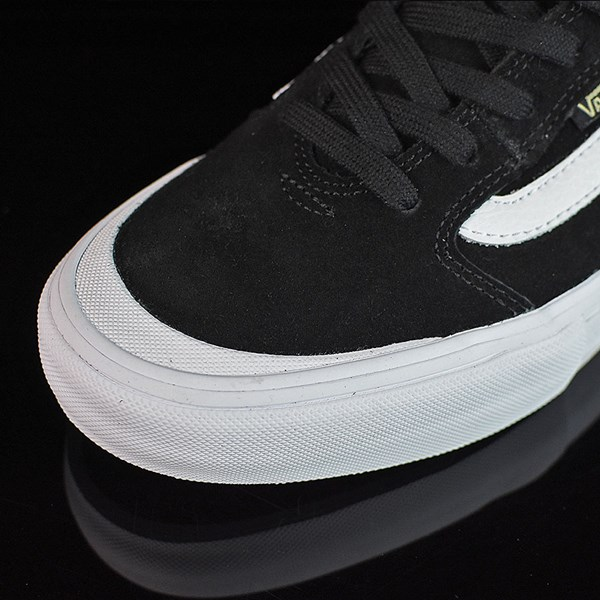 Vans Style 112 Pro Shoes Black, Black, White Closeup