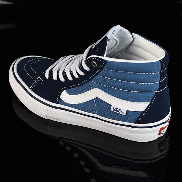 Vans Sk8-Hi Pro Shoes Navy, White Rotate 7:30